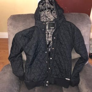 Volcom quilted black jacket